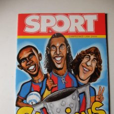 Coleccionismo deportivo: REVISTA ESPECIAL SPORT FC BARCELONA CAMPEON DE LIGA 2004/2005. BARÇA CAMPIONS. Lote 100159811