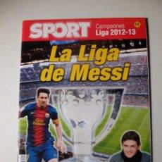 Coleccionismo deportivo: REVISTA ESPECIAL SPORT FC BARCELONA CAMPEON DE LIGA 2012/13. BARÇA CAMPIONS.. Lote 100160887