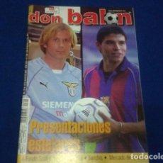 Coleccionismo deportivo: DON BALON Nº 1345 JULIO DEL 2001 COMPLETO POSTER RAUL REAL MADRID , COPA AMERICA , SANCHIS. Lote 100240851