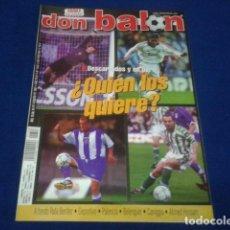 Coleccionismo deportivo: DON BALON Nº 1348 COMPLETO POSTER SAVIOLA - A FONDO RAFA BENITEZ - DEPORTIVO - PALENCIA - CANIGGIA... Lote 100241351