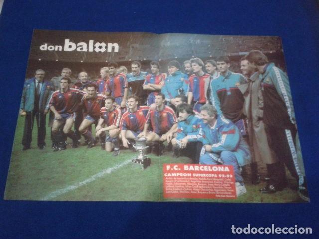 POSTER DON BALON FC BARCELONA , CAMPEON DE LA SUPERCOPA 1991 - 1992 (Coleccionismo Deportivo - Revistas y Periódicos - Don Balón)