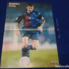 Coleccionismo deportivo: POSTER DON BALON GUARDIOLA FC BARCELONA TEMPORADA 99 - 2000 DE 42 X 30. Lote 100257387