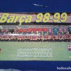 Coleccionismo deportivo: POSTER MUNDO DEPORTIVO F.C BARCELONA TEMPORADA 98 - 99 DE 60 X 40. Lote 100259783