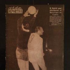 Coleccionismo deportivo: VIDA DEPORTIVA-N 728-31/08/1959.REAL MADRID-MILÁN-STANDARD-BARCELONA.TROFEO CARRANZA. Lote 100347422