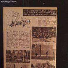 Coleccionismo deportivo: VIDA DEPORTIVA-22/01/1957. COPA EUROPA.ATH.BILBAO,5-MANCHESTER UTD,3. Lote 100411486