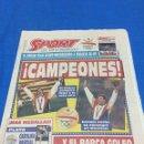 Coleccionismo deportivo: SPORT-4576-9/08/1992.ESPAÑA,3-POLONIA,2.CAMPEONES OLÍMPICOS. Lote 100458228
