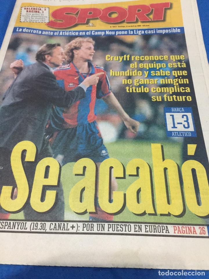 SPORT-5914-21/04/1986.BARCELONA,1-AT.MADRID,3 (Coleccionismo Deportivo - Revistas y Periódicos - Sport)