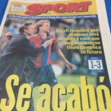 Coleccionismo deportivo: SPORT-5914-21/04/1986.BARCELONA,1-AT.MADRID,3. Lote 100458555