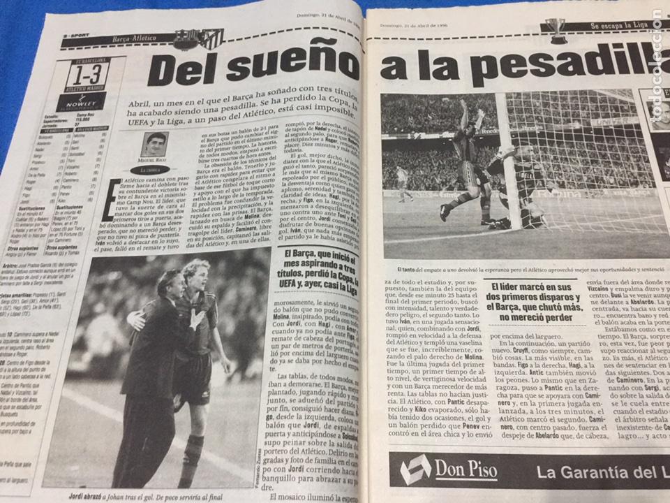 Coleccionismo deportivo: Sport-5914-21/04/1986.Barcelona,1-At.Madrid,3 - Foto 2 - 100458555