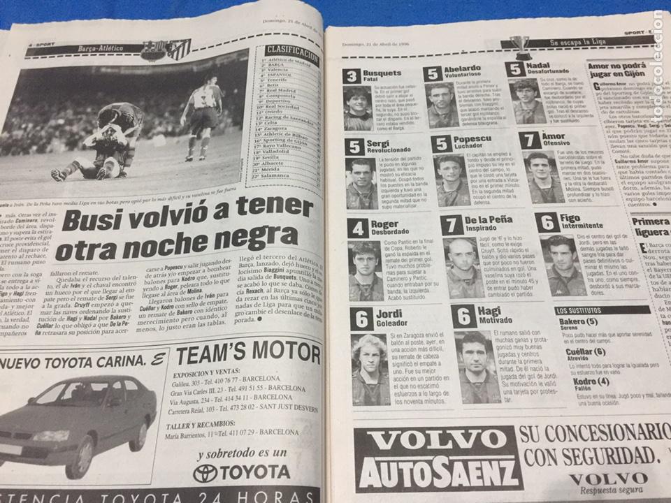 Coleccionismo deportivo: Sport-5914-21/04/1986.Barcelona,1-At.Madrid,3 - Foto 3 - 100458555
