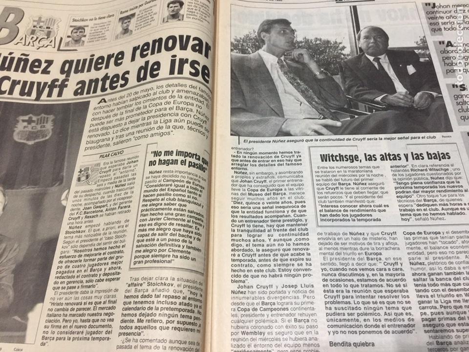Coleccionismo deportivo: Sport-4484-9/05/1992. Previa final Copa Europa.Barcelona-Sampdoria - Foto 2 - 100459110