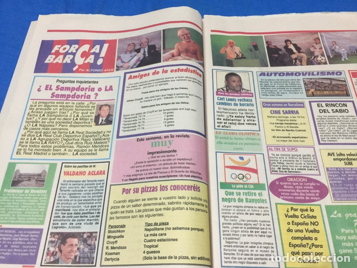 Coleccionismo deportivo: Sport-4484-9/05/1992. Previa final Copa Europa.Barcelona-Sampdoria - Foto 5 - 100459110