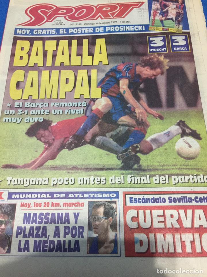 SPORT-5658-06/08/1995.UTRECH,3-BARCA,3.STTUTGART,3-ATH.BILBAO,0 (Coleccionismo Deportivo - Revistas y Periódicos - Sport)