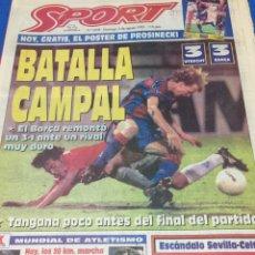 Coleccionismo deportivo: SPORT-5658-06/08/1995.UTRECH,3-BARCA,3.STTUTGART,3-ATH.BILBAO,0. Lote 100463802