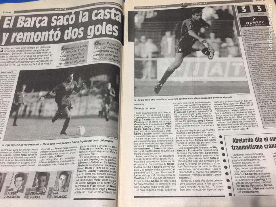 Coleccionismo deportivo: Sport-5658-06/08/1995.Utrech,3-Barca,3.Sttutgart,3-ATH.Bilbao,0 - Foto 2 - 100463802