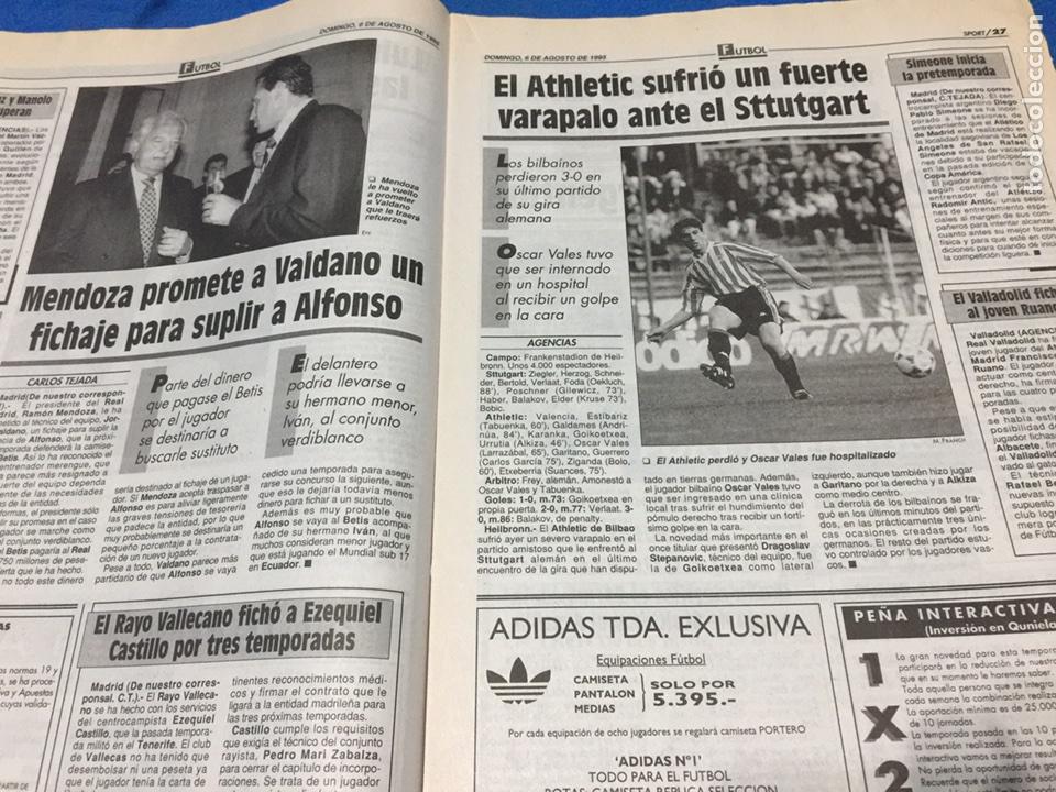 Coleccionismo deportivo: Sport-5658-06/08/1995.Utrech,3-Barca,3.Sttutgart,3-ATH.Bilbao,0 - Foto 3 - 100463802