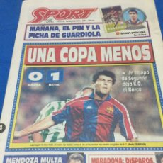 Coleccionismo deportivo - Sport-5114-04/02/1994.Copa del Rey. Barcelona,0-Betis,1 - 100464631