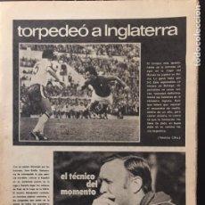 Coleccionismo deportivo: MUNDO DEPORTIVO.18/11/1976. ITALIA,2-INGLATERRA.FRSNCIA,2-EIRE,0. ARGENTINA 78. Lote 100491204