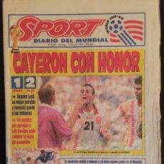 Coleccionismo deportivo: SPORT-5269-10/07/1994.ESPAÑA,1-ITALIA,2.USA 94. Lote 100558688