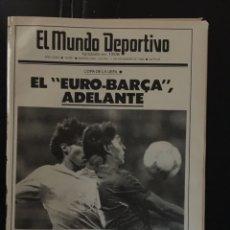 Coleccionismo deportivo: MUNDO DEPORTIVO-11/12/1986. BARCELONA,2-BAYERN,0.COPA UEFA. Lote 100560682