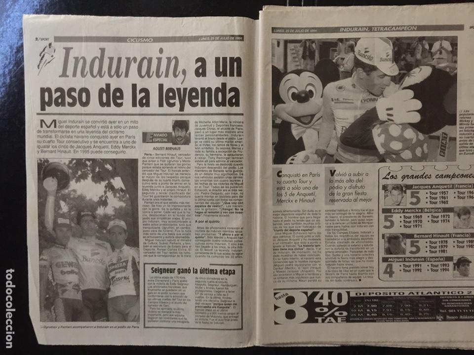 Coleccionismo deportivo: Sport-5284-25/07/1994.Cuarto Tour - Foto 2 - 100562474