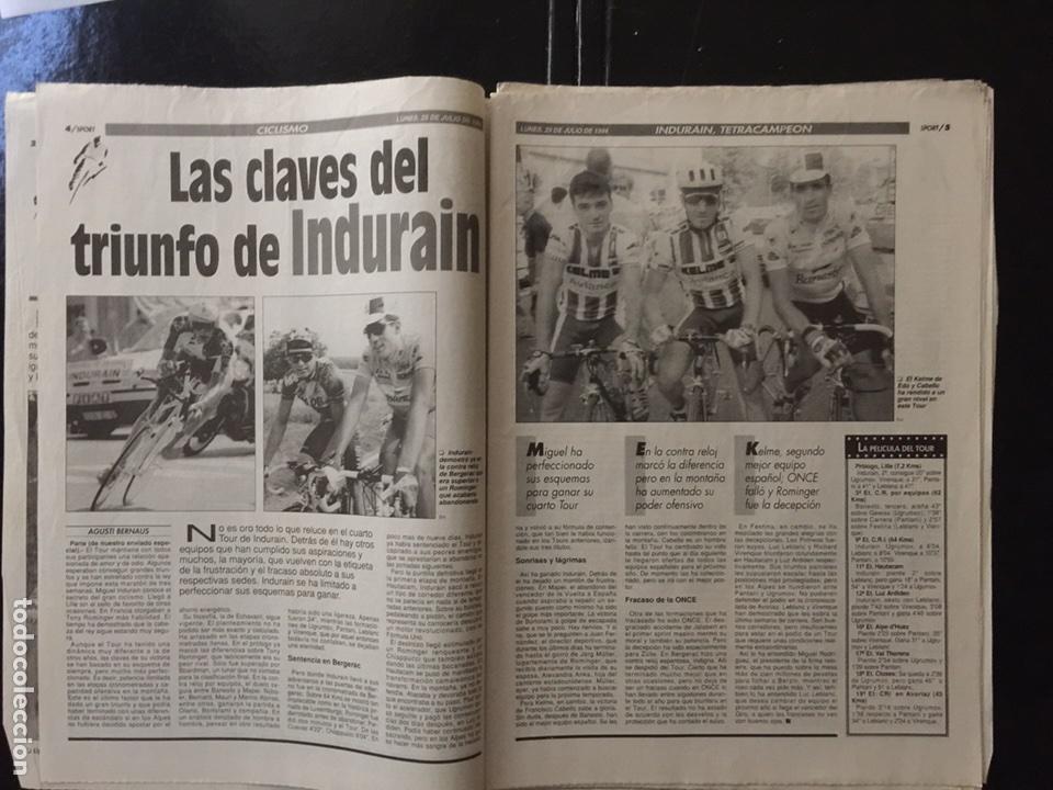 Coleccionismo deportivo: Sport-5284-25/07/1994.Cuarto Tour - Foto 3 - 100562474