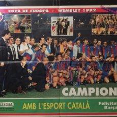 Coleccionismo deportivo: SPORT- PÓSTER FC BARCELONA CAMPEÓN COPA EUROPA. Lote 100569576
