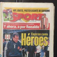 Coleccionismo deportivo: SPORT-5976-23/06/1966.EURO 96. INGLATERRA,0-ESPAÑA,0. Lote 100575447