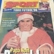 Coleccionismo deportivo: SPORT-6162-26/12/1986.EXTRA RESUMEN 1996. Lote 100726163