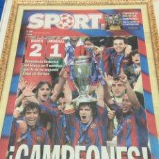 Coleccionismo deportivo: SPORT-18/05/2006. FINAL CHAMPIONS.BARCELONA,2-ARSENAL,1. CAMPEONES. Lote 100968155