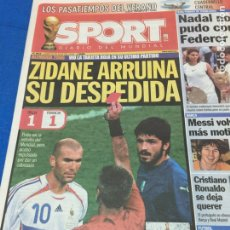 Coleccionismo deportivo: SPORT-10/07/2006. FINAL ALEMANIA 2006. ITALIA CAMPEÓN. ZIDANE EXPULSADO. Lote 100968808