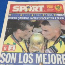 Coleccionismo deportivo: SPORT-1/06/2002. ALEMANIA,0-BRASIL,2.FINAL MUNDIAL. Lote 100974536