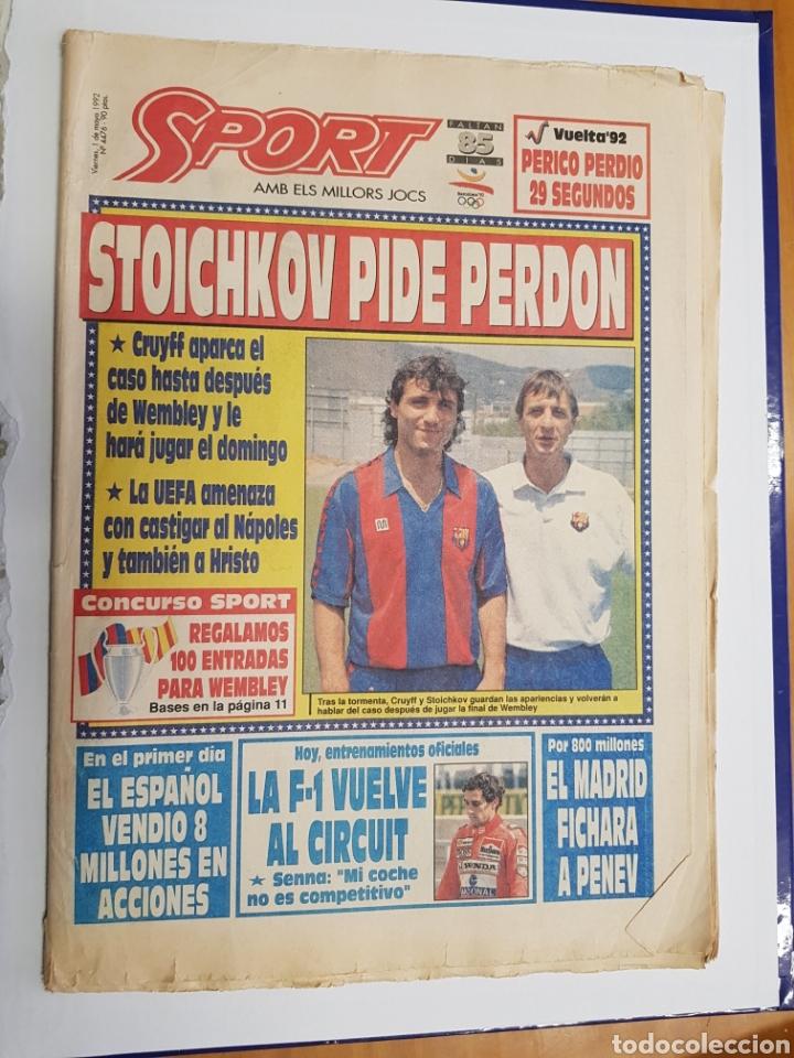 SPORT - STOICHKOV PIDE PERDON - 1 MAYO 1992 - TDK302 (Coleccionismo Deportivo - Revistas y Periódicos - Sport)