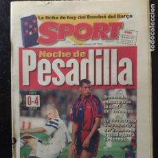 Coleccionismo deportivo: SPORT-6/11/1997. CHAMPIONS. BARCELONA,0- DINAMO KIEV,4. Lote 101045206