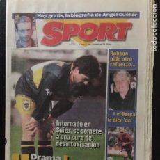 Coleccionismo deportivo: SPORT-14/08/1996.DRAMA MARADONA. Lote 101045527