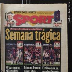 Coleccionismo deportivo: SPORT-14/11/1997. BILBAO,3-BARCELONA,0. Lote 101047887