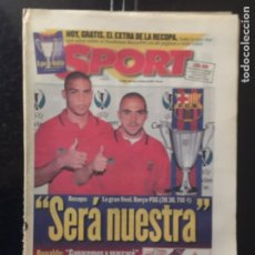 Coleccionismo deportivo: SPORT-14/05/1997. HOY FINAL RECOPA. PSG-BARCELONA. Lote 101048158