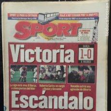 Coleccionismo deportivo: SPORT-11/05/1997.BARCELONA,1-REAL MADRID,0. Lote 101048280