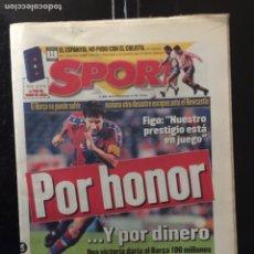 Coleccionismo deportivo: SPORT-25/11/1997. BARCELONA-NEWCASTLE.. Lote 101048462