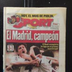 Coleccionismo deportivo: SPORT-15/06/1997. MADRID, CAMPEÓN. R.MADRID,3-AT.MADRID,1. Lote 101048702
