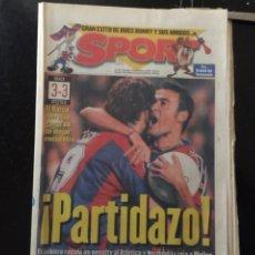 Coleccionismo deportivo: SPORT-10/11/1986. PARTIDAZO! BARCA,3-AT.MADRID,3. Lote 101048914