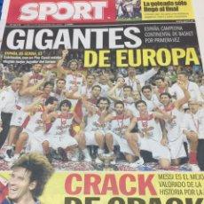 Coleccionismo deportivo: SPORT-21/09/2009.GIGANTES DE EUROPA. Lote 101072439