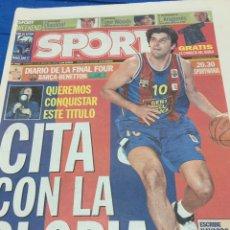 Coleccionismo deportivo: SPORT-11/05/2003. FINAL FOUR. Lote 101072567