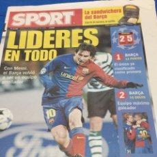 Coleccionismo deportivo: SPORT-27/11/2008.CHAMPIONS.S.LISBOA,2-BARCELONA,5. Lote 101072654