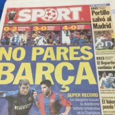 Coleccionismo deportivo: SPORT-26/02/2003.BORUSDIA,1-R.MADRID,1.INTER-BARCELONA. Lote 101072710