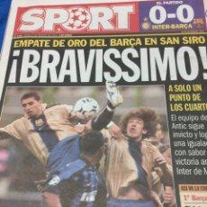 Coleccionismo deportivo: SPORT-27/02/2003.CHAMPIONS.INTER,0-BARCELONA,0. Lote 101072807