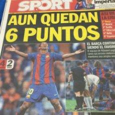 Coleccionismo deportivo: SPORT-11/04/2005.R.MADRID,4-BARCELONA,2. Lote 101072867