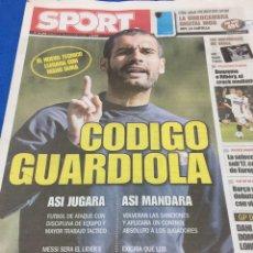 Coleccionismo deportivo: SPORT-17/05/2008.CODIGO GUARDIOLA. Lote 101073056