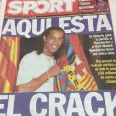 Coleccionismo deportivo: SPORT-20/07/2003.RONALDINHO FICHADO. Lote 101073438