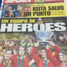 Coleccionismo deportivo: SPORT-24/11/2008. ESPAÑA CAMPEÓN COPA DAVIS. Lote 101073523
